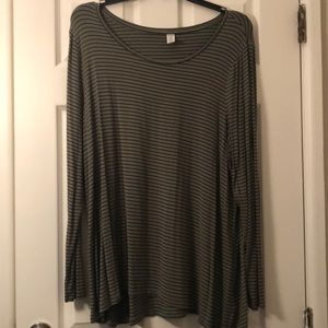 Old Navy Luxe L/S Hunter Green Top (Size XXL)